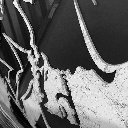 Trumpet 3D Framed Artwork - 75x75cm