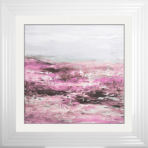 Blush Coast 1 Framed Liquid Resin Artwork - 75x75cm