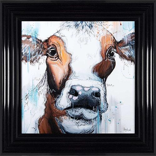 Cow Liquid Framed Wall Art