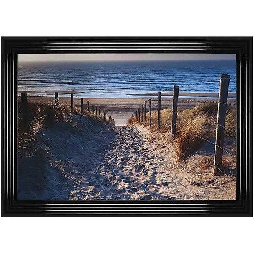 Path to Beach Framed Liquid Wall Art