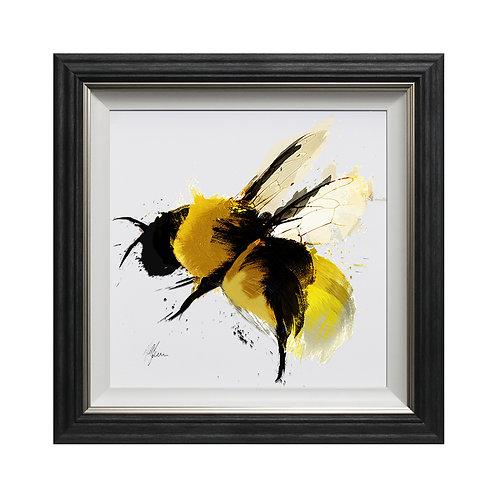 Scruffy Bumblebee II Framed Wall Art