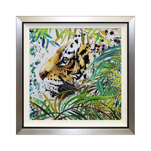 Shadow Of The Jungle Liquid Art Framed Wall Art