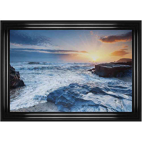 Rocky Beach Framed Liquid Wall Art
