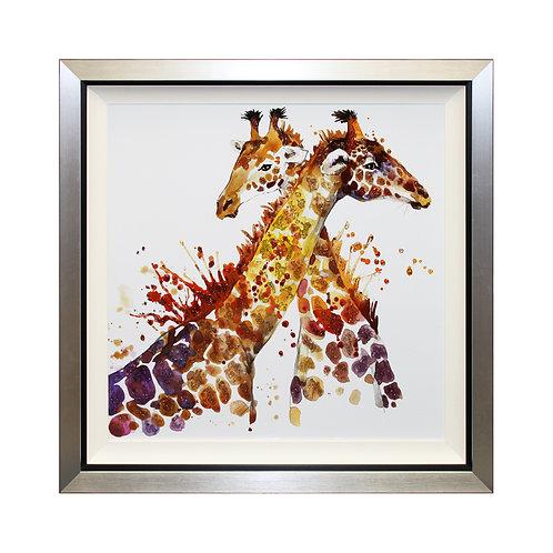 Giraffes Can't Dance Liquid Art Framed Wall Art
