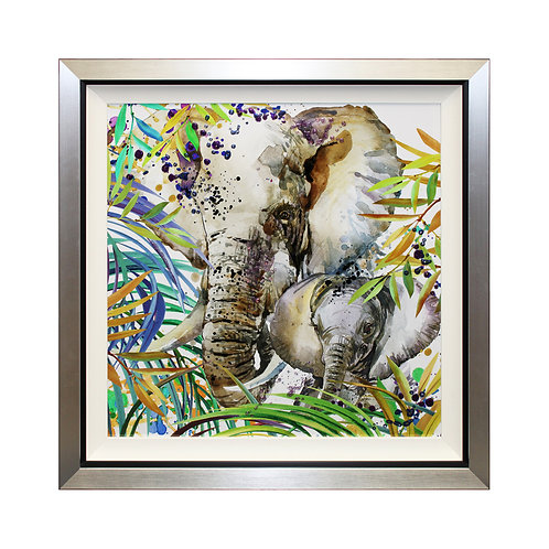 Jungle Memories II Liquid Art Framed Wall Art