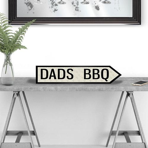 Dads BBQ Vintage Street Sign
