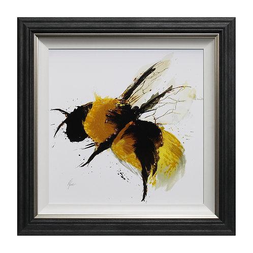 Scruffy Bumblebee II Liquid Art Framed Wall Art