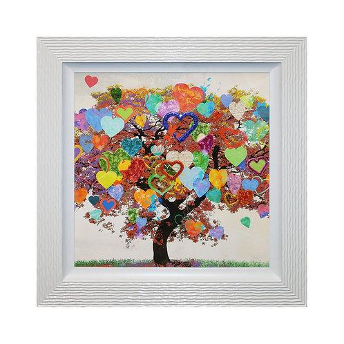 Tree of Love Liquid Framed Wall Art