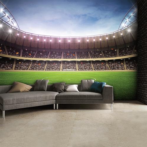 Football Stadium Feature 4 Piece Wall Mural