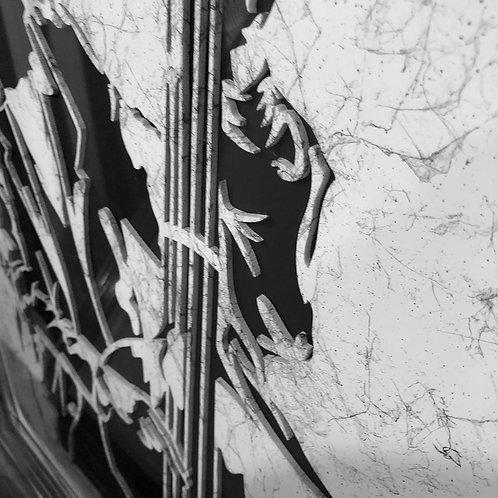 Cello 3D Framed Artwork - 75x75cm
