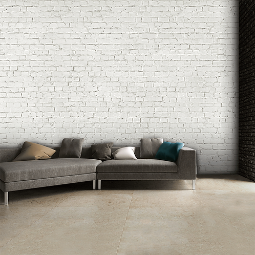 Rustic White Brick Wall Feature 4 Piece Wall Mural