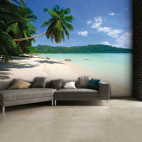 Tropical Palm Beach Feature 4 Piece Wall Mural