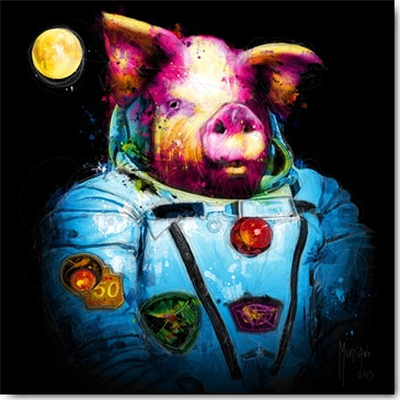 Patrice Murciano PIG IN SPACE Framed Wall Art