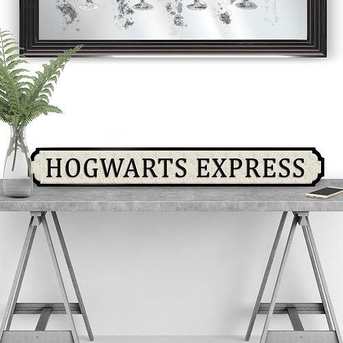 Hogwarts Express Vintage Street Sign