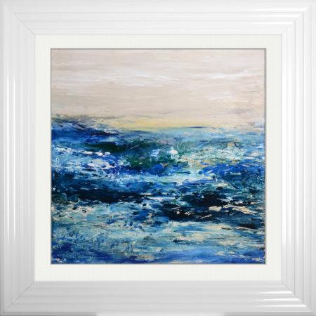 Coast 1 Framed Liquid Resin Artwork - 75x75cm