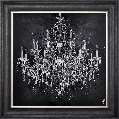 Chandelier Framed Liquid Resin Artwork - 75x75cm