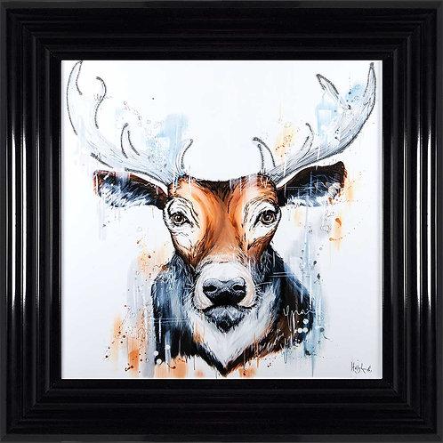 Stag Liquid Framed Wall Art