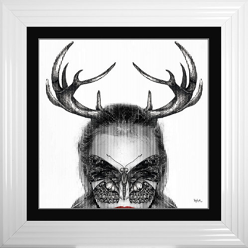 Cara Horns Framed Liquid Resin Artwork - 75x75cm