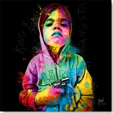 Patrice Murciano GANGSTA CHILD Framed Wall Art