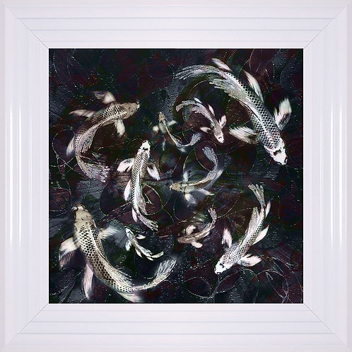 Koi 2 Liquid Framed Artwork