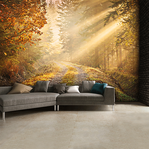 Autumn Forest Woodland Feature 4 Piece Wall Mural
