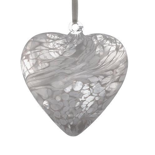 Friendship Hearts 8cm - White