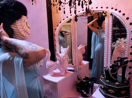 """""""Mirror, Mirror"""". Digital photograph. Collaboration with Scott Hove at Cakeland."""