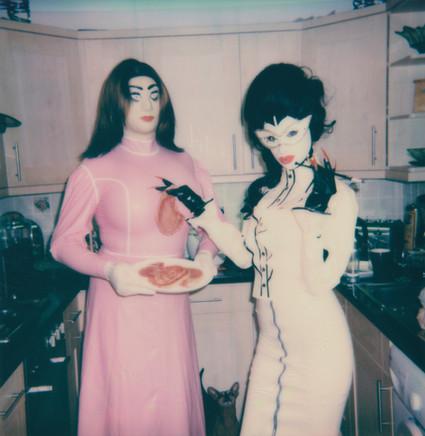 """Pork Chops"". Polaroid Impulse photograph."