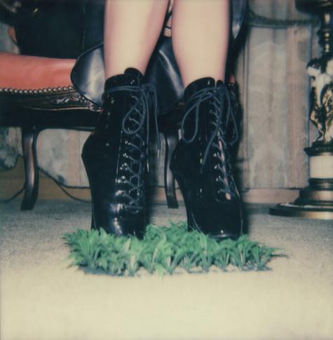 """In The Grass"". Polaroid Impulse photograph."