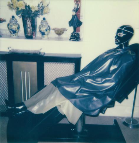 """""""In The Beauty Chair"""". Polaroid Impulse photograph."""