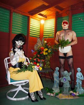 """""""Garden Statues"""". Digital photograph."""