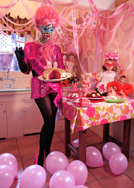 """""""Pink Party"""". Digital photograph."""