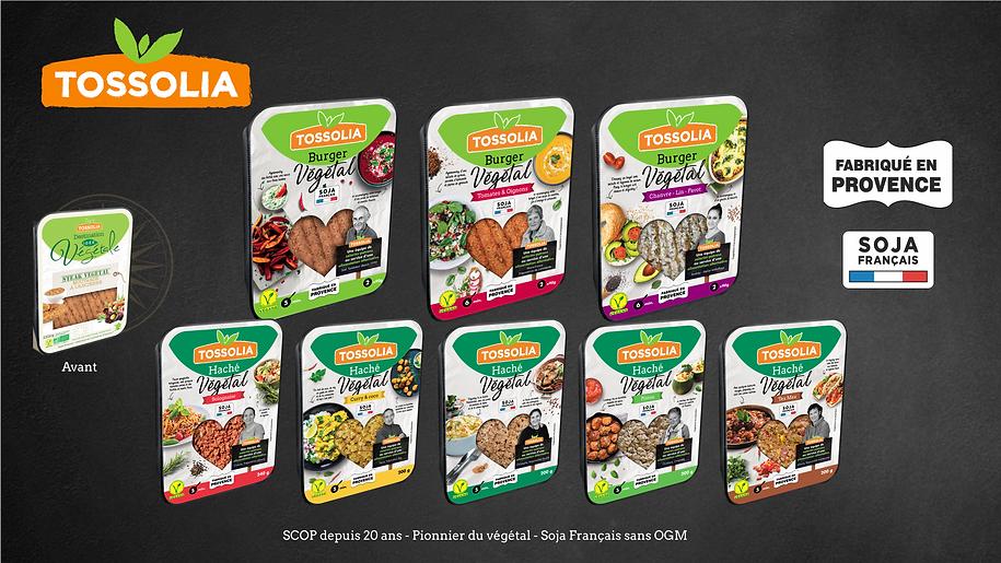 Packaging Burger et Hachés végétaux Tossolia