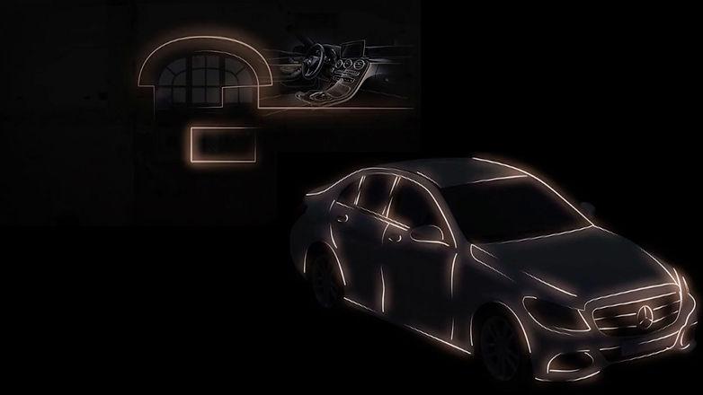 Mercedes Benz, Vídeo Mapping, leoadrogue.com