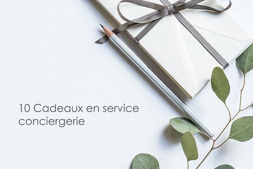 Abonnement 10 cadeaux en service conciergerie