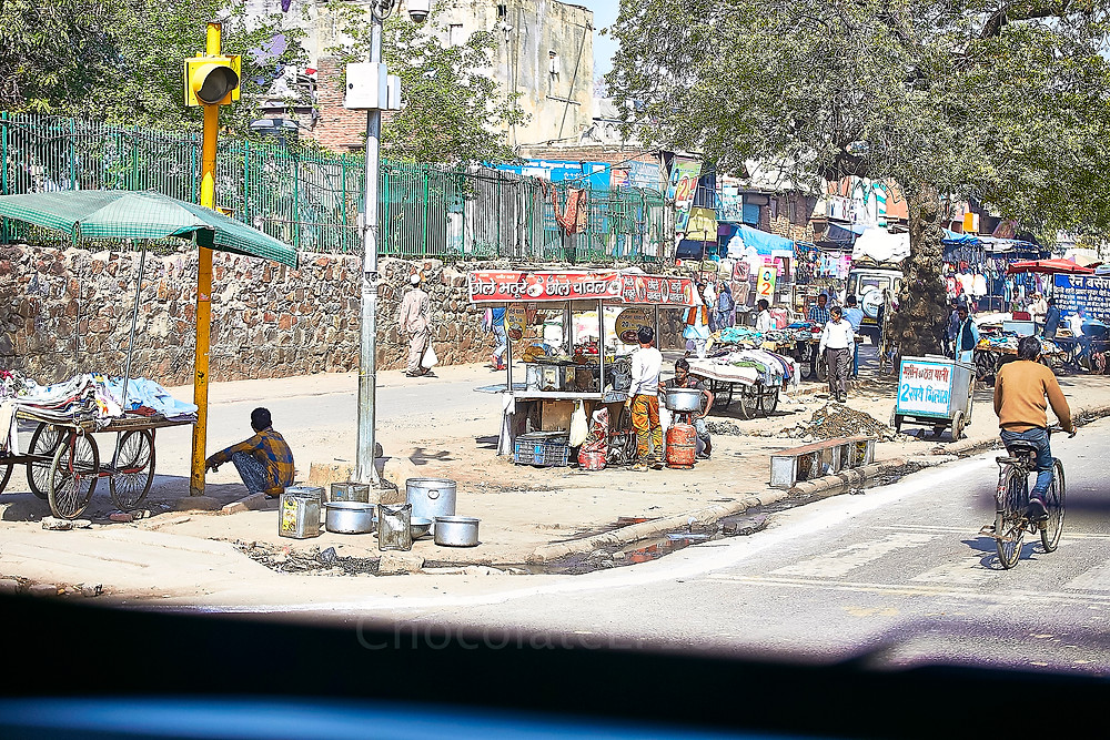 old  delhi street food stalls