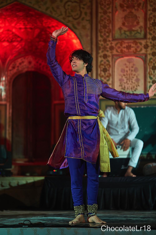 kathak dance heritage event at amber fort