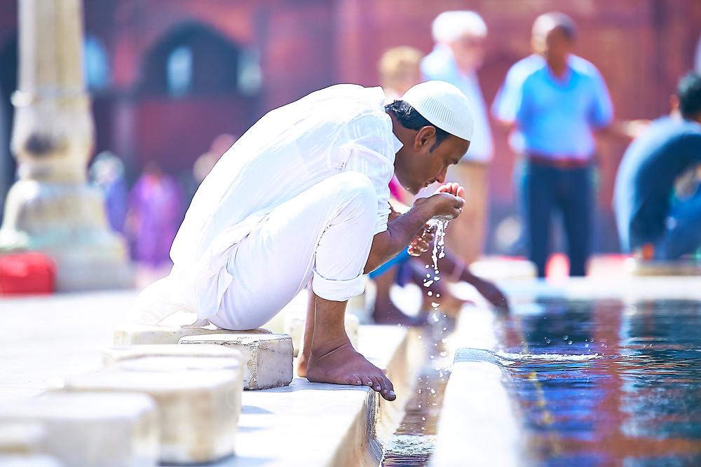 jama majid old delhi - a prayer pool