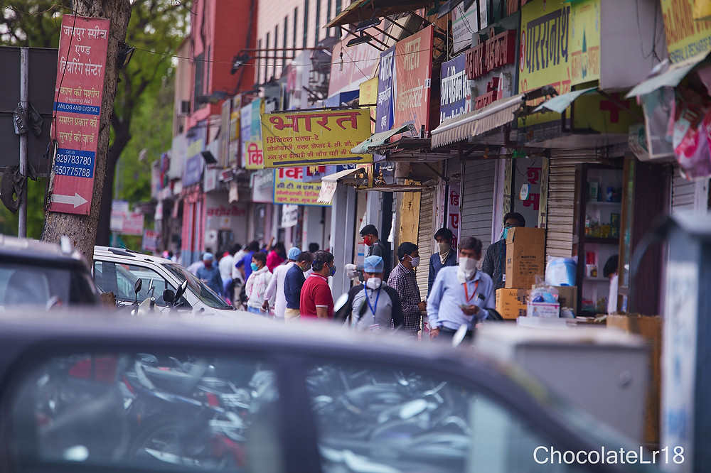 medical stores at SMS hospital jaipur during pendemic lockdown