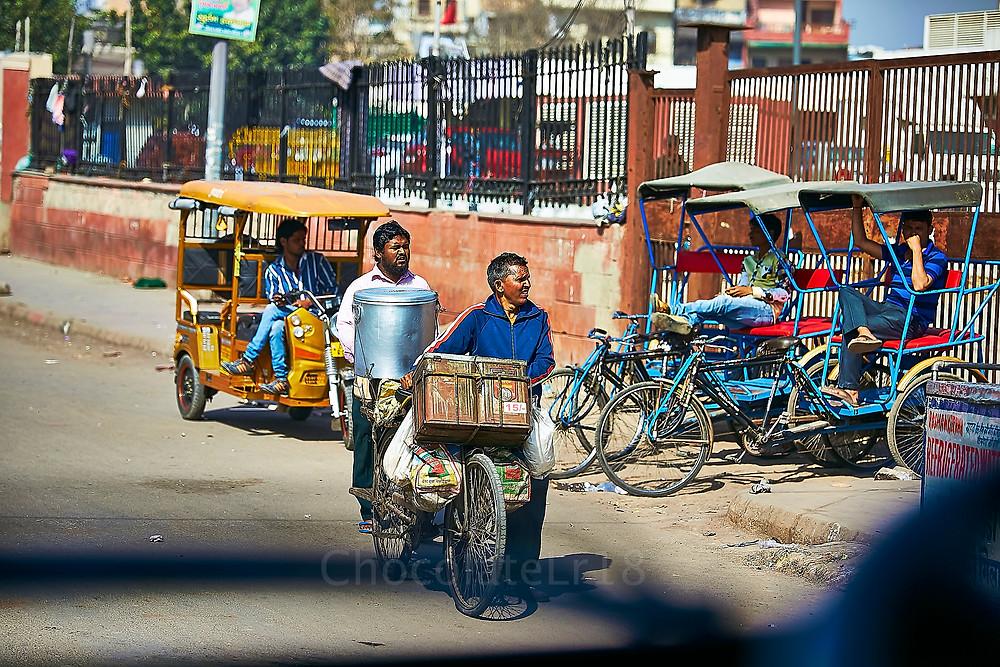 street vendor walking