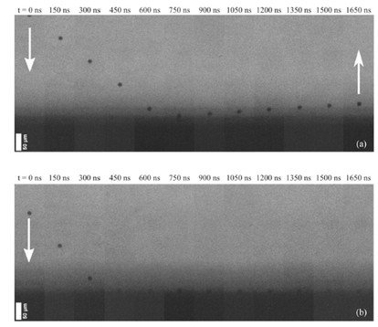 Variation of COR with respect to impact velocity for Ti powder particles accelerated towards the Al2O3 substrate by LIPIT.