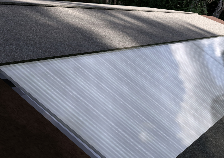 skylight in multiwall polycarbonate