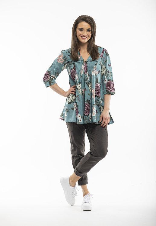 Cotton Pleated Tunic Shirt - Style 52635