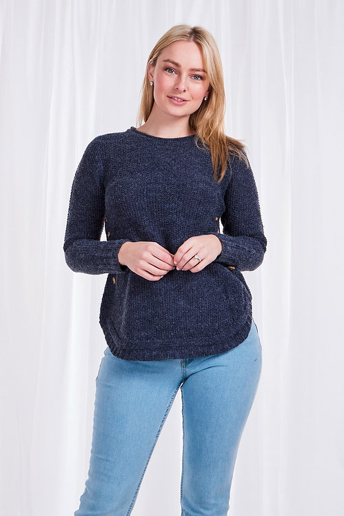 Button Detail Long Sleeved Knit Top - Style KP504647