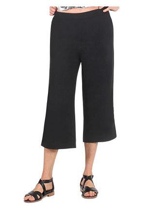 Linen Blend Wide Leg Culottes - Style E1380