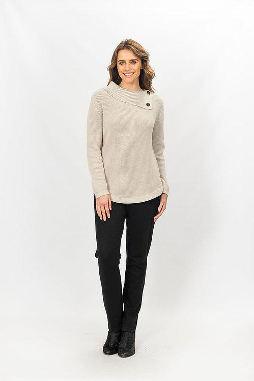 Cotton Split Collar Knit - Style 2803
