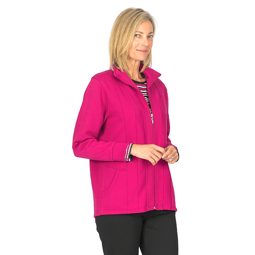 Long Sleeved Fleece Zip Jacket with Pockets - Style 0608
