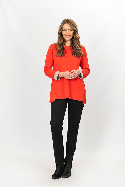 Trim Pullover Knit - Style W150