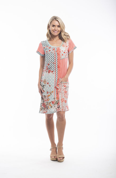 GRAN CANARIA Short Sleeved Dress - Style 21384