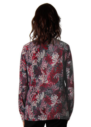 Long Sleeved Print Knit with Scarf - Style 5783